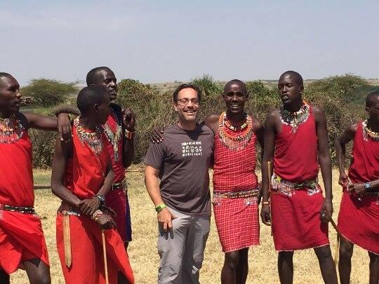 Con los masai en Kenia