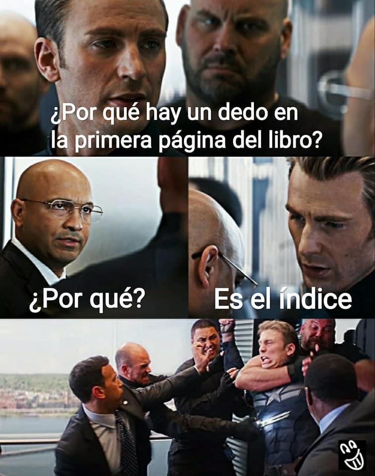Meme Capitán América El índice