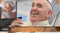 El Papa hace trampas jugando al Candy Crush